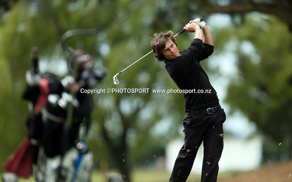Joshua Williams. The Charles Tour - John Jones Steel 2012 Harewood Open. Harewood Golf Course, Christchurch, Friday 19 October 2012. Photo : Joseph Johnson/photosport.co.nz