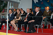 """Le Roi Philippe et la Reine Mathilde assistent au """"Bal National"""" à la Place du jeu de balles à l'occasion des festivités de la fête nationale.<br />  Belgique, Bruxelles, 20 juillet, 2014."""