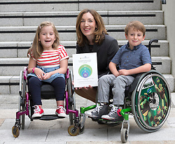 Repro Free: 03/09/2014<br /> Dr Jane Leonard, Consultant Paediatrician &amp; Lead on SB Service, Temple Street Children&rsquo;s University Hospital is pictured with Emily Fitzsimons (7) from Kildare and Sean Nelson (6) from Sallins Co Kildare at the launch of the Temple Street national Spina Bifida services research report. This report shows the gross under-resourcing of services for children with Spina Bifida both in Temple Street and across the country. These children have extremely complex needs but the research showed that 54% of them do not have access to a multidisciplinary team (MDT) clinic despite the fact that 69% of children with SB over three years use a wheelchair, 93% of them over five years require continence support and 64% of them have a VP shunt to manage hydrocephalus. Picture Andres Poveda