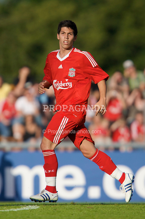 FRIBOURG, SWITZERLAND - Saturday, July 19, 2008: Liverpool's Daniel Pacheco during a pre-season friendly match against Wisla Krakow at Stade St-Leonard. (Photo by David Rawcliffe/Propaganda)