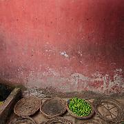 Street market at the old town of Varanasi