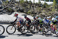 Megan Guarnier and Trixi Worrack in the bunch at Amgen Breakaway from Heart Disease Women's Race empowered with SRAM (Tour of California) - Stage 2. A 108km road race in South Lake Tahoe, USA on 12th May 2017.