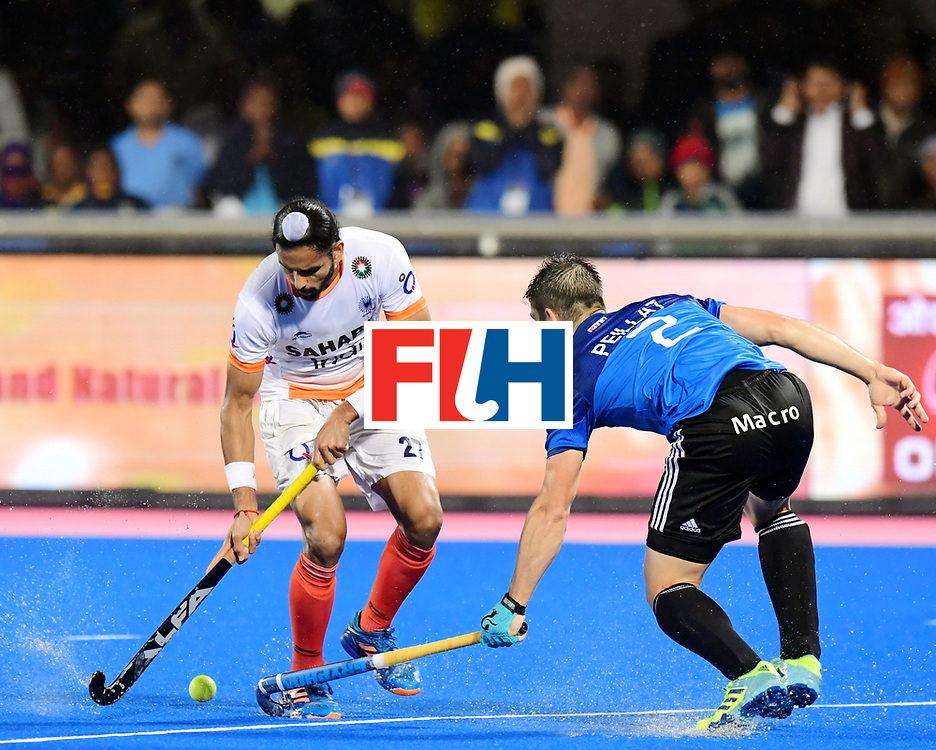 Odisha Men's Hockey World League Final Bhubaneswar 2017<br /> Match id:19<br /> India v Argentina<br /> Foto: Akashdeep Singh (Ind) and Gonzalo Peillat (Arg)  <br /> COPYRIGHT WORLDSPORTPICS FRANK UIJLENBROEK