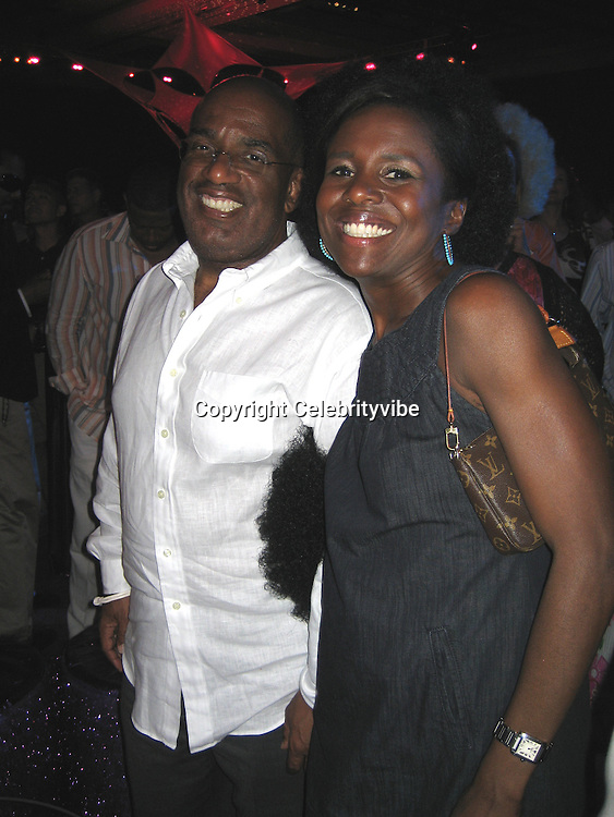 **EXCLUSIVE**.AL Rocker& wife Deborah Roberts.Silly 70's Party with performances by Aerosmith, Earth Wind, Fire & Village People & Stevie Wonder.Opening of Cain at The Cove Hotel.Grand Ballroom.Atlantis Hotel.Paradise Island, Bahamas.Saturday, May 12, 2007 .Photo By Celebrityvibe.To license this image please call (212) 410 5354; or.Email: celebrityvibe@gmail.com ;.