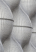 Detail of Boiler Suit an undulating skin of woven steel panels encasing the boiler house at Guy's Hospital, London designed by Heatherwick Studio