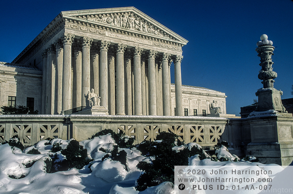 .US Supreme Court in winter.