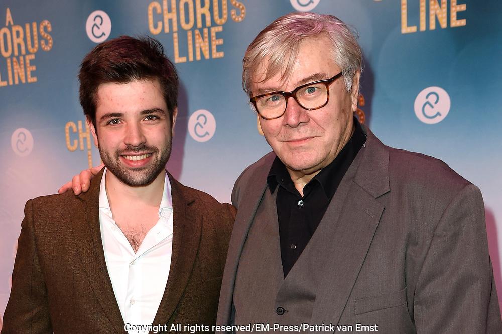 Premiere van A Chorus Line in het Zaantheater te Zaandam.<br /> <br /> Op de foto:  Barrie Stevens met partner