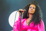 Kelis performs on the Pyramid Stage. The 2014 Glastonbury Festival, Worthy Farm, Glastonbury. 28 June 2013.  Guy Bell, 07771 786236, guy@gbphotos.com