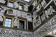 The Black Eagle Hotel, (Krebs Hotel) in the city of Litomerice, Czech Republic on the Elbe River <br /> Photo by Dennis Brack