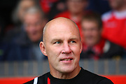 Walsall manager Jon Whitney during the EFL Sky Bet League 1 match between Walsall and Shrewsbury Town at the Banks's Stadium, Walsall, England on 7 October 2017. Photo by John Potts.