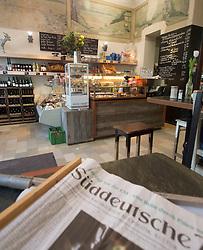 inside  trendy bohemian cafe Meierei in Prenzlauer Berg Berlin Germany