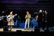 Jolie Holland and members of TV on the Radio perform at The Music of R.E.M. at Carnegie Hall, a tribute concert to benefit musical education programs for underprivileged youth.