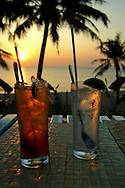 """Sundowners"" at the Tropicana Resort, Long Beach. Though mostly devoted to Nuoc Mam or fish sauce, in recent years Phu Quoc has become a popular tropical retreat thanks to the islands excellent white sand beaches, affordable bungalows and hotels and fresh seafood and fabulous sunsets."