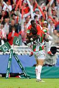 Rugby: Biarritz / Munster - 1/2Finale H Cup - 02.05.2010 - Joie des Joueurs Biarrots en fin de match