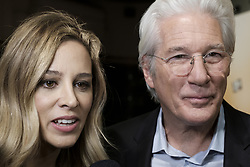 December 11, 2017 - Madrid, Spain - US actor Richard Gere and his partner Alejandra Silva  pose on the red carpet as he arrives for the premiere of the film 'The dinner' in Madrid, Spain, (Credit Image: © Oscar Gonzalez/NurPhoto via ZUMA Press)