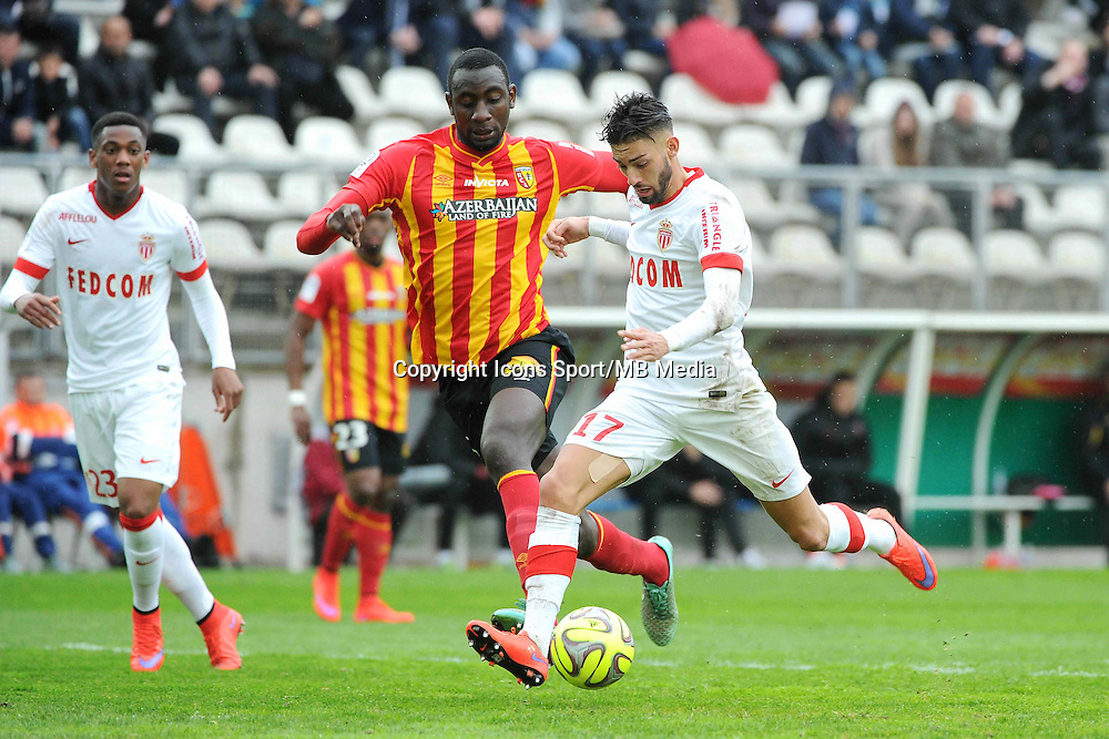 But Yannick FERREIRA CARRASCO / Abdoul BA - 26.04.2015 - Lens / Monaco - 34eme journee de Ligue 1<br />