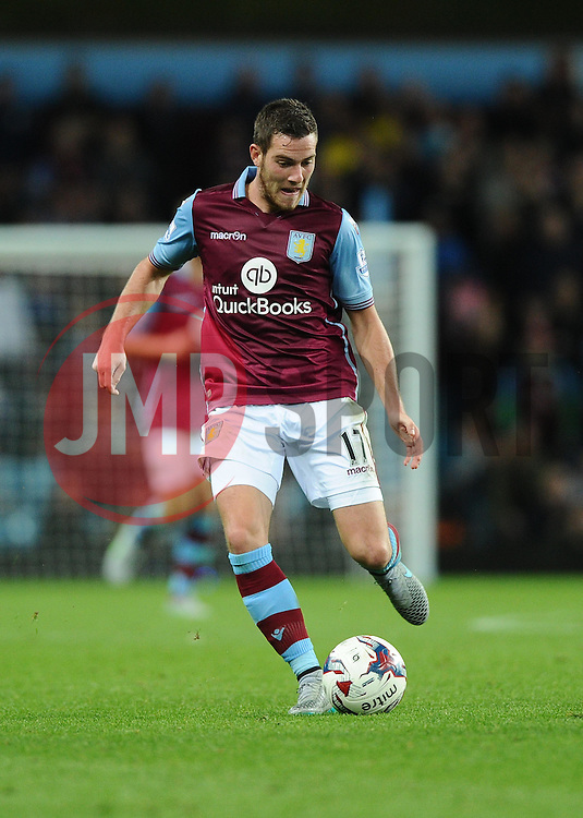 Jordan Veretout of Aston Villa  - Mandatory byline: Joe Meredith/JMP - 07966386802 - 25/08/2015 - FOOTBALL - Villa Park -Birmingham,England - Aston Villa v Notts County - Capital One Cup - Second Round