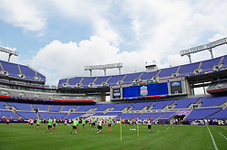 BALTIMORE, MD - Friday, July 27, 2012: Liverpool's players during a training session ahead of the pre-season friendly match against Tottenham Hotspur at the M&T Bank Stadium. (Pic by David Rawcliffe/Propaganda)