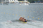 "Rio de Janeiro. BRAZIL.   GBR W8+. Bow. Katie GREVES, Katie, WILSON, Melanie, Frances HOUGHTON, Polly SWANN,  Jessica EDDIE,  Olivia CARNEGIE-BROWN,  Karen BENNETT, Zoe LEE, and cox. Zoe DE TOLEDO . moving awa2016 Olympic Rowing Regatta. Lagoa Stadium,<br /> Copacabana,  ""Olympic Summer Games""<br /> Rodrigo de Freitas Lagoon, Lagoa.   Monday  08/08/2016 <br /> <br /> [Mandatory Credit; Peter SPURRIER/Intersport Images]"
