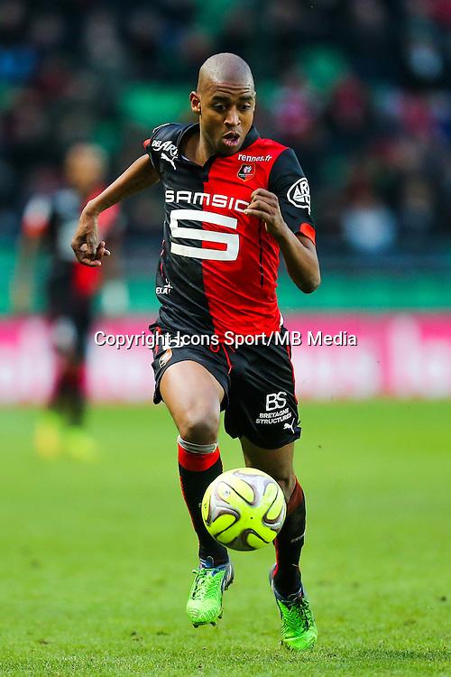 Gelson FERNANDES  - 25.01.2015 - Rennes / Caen  - 22eme journee de Ligue1<br /> Photo : Vincent Michel / Icon Sport *** Local Caption ***
