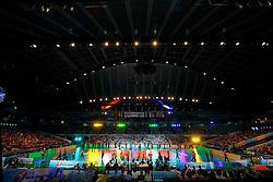 23-08-2009 VOLLEYBAL: WGP FINALS JAPAN - BRAZILIE: TOKYO <br /> Brazilie wint met 3-1 van Japan en zijn de winnaar van de Grand Prix 2009 / Support publiek uitverkocht Tokyo Metropolitan Gymnasium - Japanse cheerleaders / dansers mascottes openen de wedstrijd<br /> ©2009-WWW.FOTOHOOGENDOORN.NL