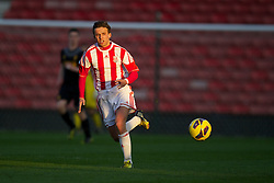 STOKE-ON-TRENT, ENGLAND - Wednesday, May 1, 2013: Stoke City's Charlie Ward in action against Liverpool during the Premier League Academy match at the Britannia Stadium. (Pic by David Rawcliffe/Propaganda)