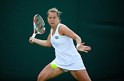 LONDON, ENGLAND - Monday, June 30, 2014: Barbora Zahlavova Strycova (CZE) during the Ladies' Singles 4th Round match on day seven of the Wimbledon Lawn Tennis Championships at the All England Lawn Tennis and Croquet Club. (Pic by David Rawcliffe/Propaganda)