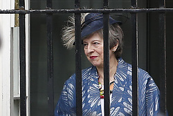 © Licensed to London News Pictures. 11/03/2019. London, UK. Prime Minister Theresa May leaves Downing Street for Westminster Abbey to attend the Commonwealth Day service ahead of tomorrow's crucial Brexit withdrawal vote in Parliament. Photo credit: Peter Macdiarmid/LNP