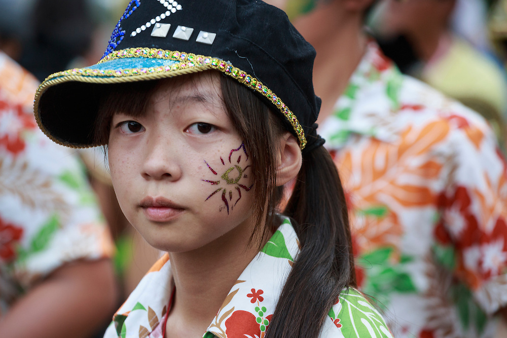 Elementary school student in the Dream Parade, Taipei