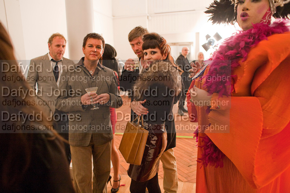 SIMON MILLS; STEVE STRANGE; MISS JULIA; DANIEL LISMORE 30 Years Of i-D - book launch. Q Book 5-8 Lower John Street, London . 4 November 2010. -DO NOT ARCHIVE-© Copyright Photograph by Dafydd Jones. 248 Clapham Rd. London SW9 0PZ. Tel 0207 820 0771. www.dafjones.com.