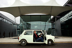 UK ENGLAND WILTSHIRE MALMESBURY 14SEP06 - Inventor and company chairman James Dyson (58) sits in a classic Mini car in front of the Dyson headquarters in Malmesbury, Wiltshire. His company - with its distinctive range of boldly-coloured products - is now said to be Europe's fastest growing manufacturer and has achieved sales of over £3bn worldwide, with £35m profit in 2000...jre/Photo by Jiri Rezac..© Jiri Rezac 2006..Contact: +44 (0) 7050 110 417.Mobile:  +44 (0) 7801 337 683.Office:  +44 (0) 20 8968 9635..Email:   jiri@jirirezac.com.Web:    www.jirirezac.com..© All images Jiri Rezac 2006 - All rights reserved.