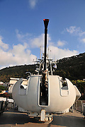 Israel, Haifa, The Clandestine Immigration and Navy Museum 70mm naval cannon