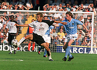 Steve McManaman (Man City) Junichi Inamoto (Fulham) Fulham v Manchester City. 20/9/03. Credit : Colorsport/Andrew Cowie.