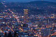 Downtown Portland, Oregon. Winter 2013.