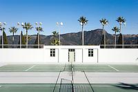 Tennis Courts - Hearst Castle, San Simeon, California