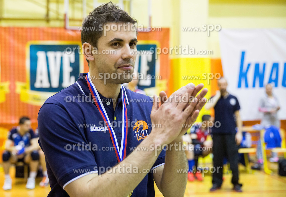 Tomi Smuc, head coach of ACH after winning during volleyball match between ACH Volley   and Salonit Anhovo in Final of Slovenian Cup 2014/15, on January 17, 2015 in Sempeter, Slovenia. Photo by Vid Ponikvar / Sportida