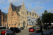 Mechelen is a city and municipality in the province of Antwerp, Flanders, Belgium.<br /> <br /> On the Photo:  Grote Markt (Large Market square)