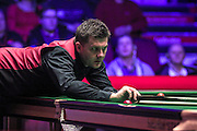 Ryan Day concentrates on his shot during the Ladbrokes World Grand Prix at Preston Guildhall, Preston, United Kingdom on 12 February 2017. Photo by Pete Burns.