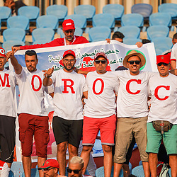Morocco fans during the African Cup of Nations match between South Africa and Morocco on July 1st, 2019. Photo : Ulrik Pedersen / Icon Sport