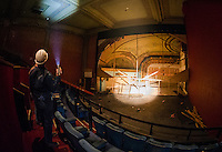 Beginning of the renovation project in the Colonial Theater in downtown Laconia.  Karen Bobotas for the Laconia Daily Sun