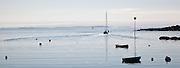 Sailboat leaving Port Clyde; Vacation trip to Monhegan Island