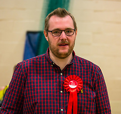 Haddington & Lammermuir by-election count. Haddington, East Lothian, Scotland, United Kingdom, 10 May 2019. Pictured:   Neil Black, Scottish Labour Party. The election takes place of one councillor in Ward 5 of East Lothian Council due to the resignation of Councillor Brian Small. The successful candidate represents this ward along with the three existing councillors. The by-election uses the Single Transferable Vote (STV) system in which voters can rank candidates in order of preference and can choose to vote for as many or as few candidates as they like. The election fields 5 candidates from Scottish National Party (SNP), Scottish Labour Party, Scottish Conservatives and Unionist Party, Scottish Liberal Democrats and UK Independence Party (UKIP).<br /> <br /> Sally Anderson | EdinburghElitemedia.co.uk