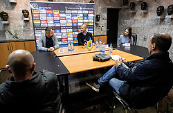 Dušan Kosič, head coach of Celje and Dejan Grabić, head coach of Bravo during press conference after the football match between NK Bravo and NK Celje in 13th Round of Prva liga Telekom Slovenije 2019/20, on October 5, 2019 in ZAK stadium, Ljubljana, Slovenia. Photo by Vid Ponikvar / Sportida