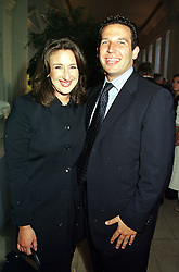 Author JANE GREEN and her husband MR DAVID BURKE,<br />  at a reception in London on 12th July 2000.OGG 29<br /> © Desmond O'Neill Features:- 020 8971 9600<br />    10 Victoria Mews, London.  SW18 3PY <br /> www.donfeatures.com   photos@donfeatures.com<br /> MINIMUM REPRODUCTION FEE AS AGREED.<br /> PHOTOGRAPH BY DOMINIC O'NEILL