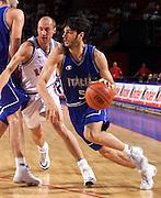 Francia 01/07/1999<br /> Campionati Europei di Basket Francia 1999<br /> Italia-Russia<br /> Gianluca Basile
