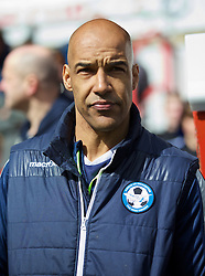 WREXHAM, WALES - Monday, May 2, 2016: Airbus UK Broughton's manager Andy Preece before the129th Welsh Cup Final against The New Saints at the Racecourse Ground. (Pic by David Rawcliffe/Propaganda)