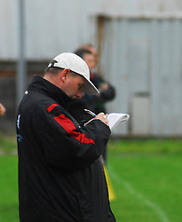 Kenny Gannon taking notes during the leage game  V Claremorris...Pic Conor McKeown