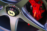 August 14-16, 2012 - Pebble Beach / Monterey Car Week. Ferrari wheel detail