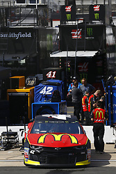 April 13, 2018 - Bristol, Tennessee, United States of America - April 13, 2018 - Bristol, Tennessee, USA: The car of Kyle Larson (42) sits on pit road before opening practice for the Food City 500 at Bristol Motor Speedway in Bristol, Tennessee. (Credit Image: © Chris Owens Asp Inc/ASP via ZUMA Wire)