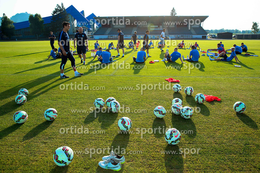Players during practice session of Slovenian National Football Team before Euro 2016 Qualifications match against England, on June 10, 2015 in Kranj, Slovenia. Photo by Vid Ponikvar / Sportida